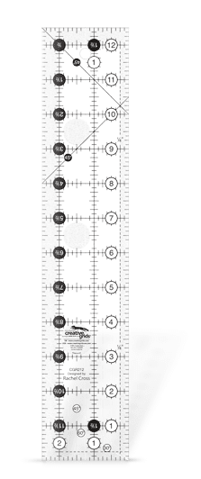 Turn-a-Round Ruler 2½in x 12½in-0