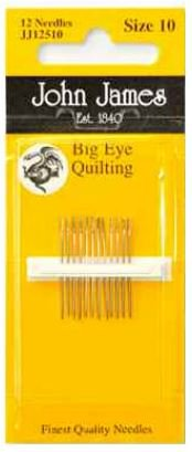 John James Big Eye Quilting Needle size 10-0