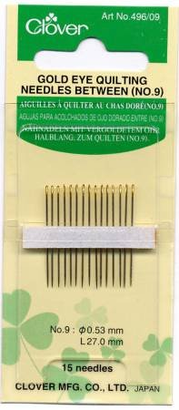 Clover Gold Between/Quilting Needles size 9-0