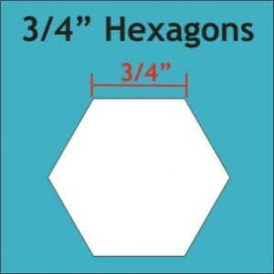 ¾in Hexagon Paper Pieces