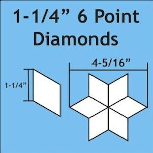 1¼in 6 Point Diamond