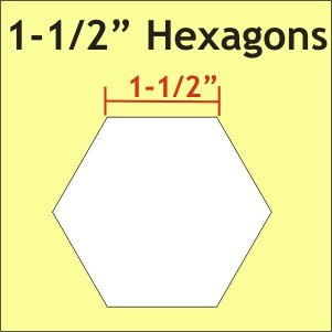 1½in Hexagon Paper Pieces (bulk pack)