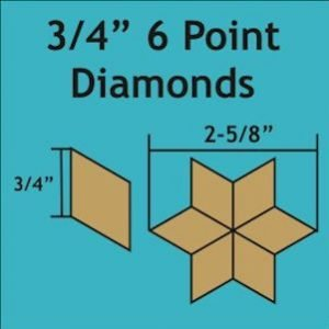 ¾in 6 Point Diamond Paper Pieces-0