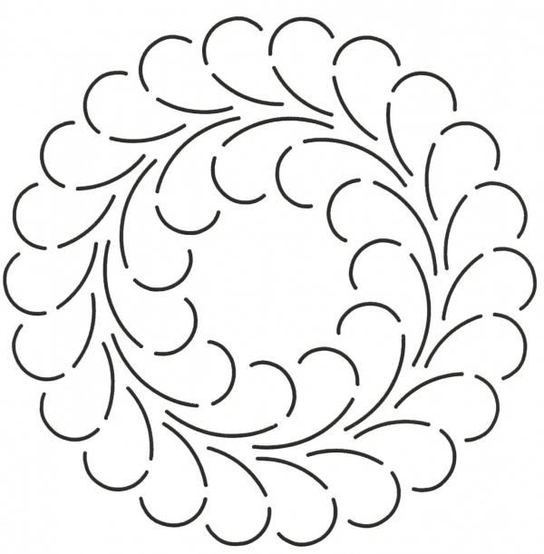 Double Feather Circle (341)