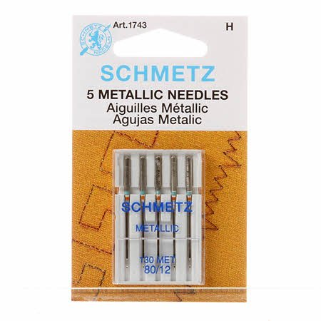 Schmetz Metallic Machine Needles 12/80