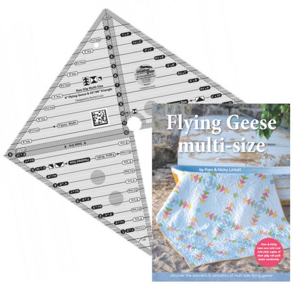 Flying Geese & 45/90 Ruler PLUS Flying Geese book-0