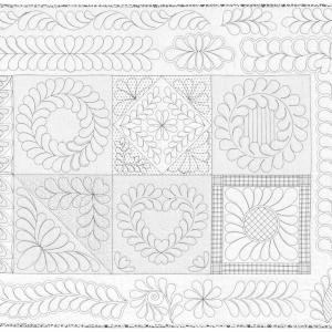 26 feather designs to bolster the confidence of even first time machine quilters.