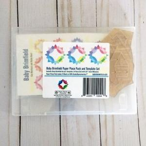 "Baby Brimfield Paper Piece Pack and 4 Piece Acrylic Templates with 3/8"" Seam Allowance"