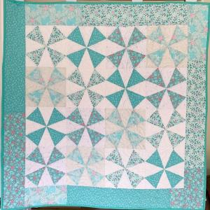 Friday Night Quilt in Aqua - complete kit