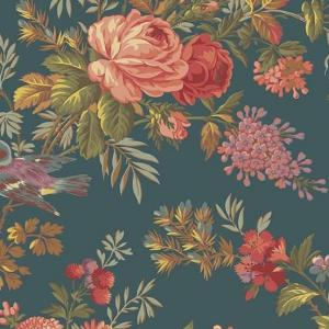 8985 T - Teal- Bed of Roses