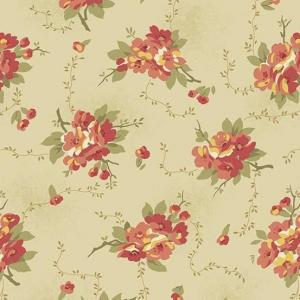 Bed of Roses - 8986 L- Cream- Dahlia