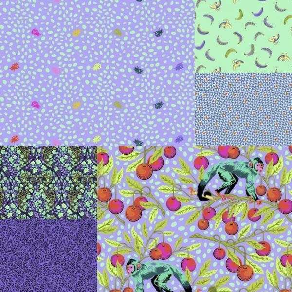 Monkey Wrench Guava Fat Quarter Bundle