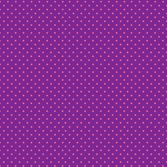 Makower Pink Spot on Purple - LP