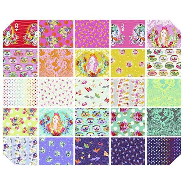 Tula Pink Curiouser and Curiouser fat quarter yard bundle