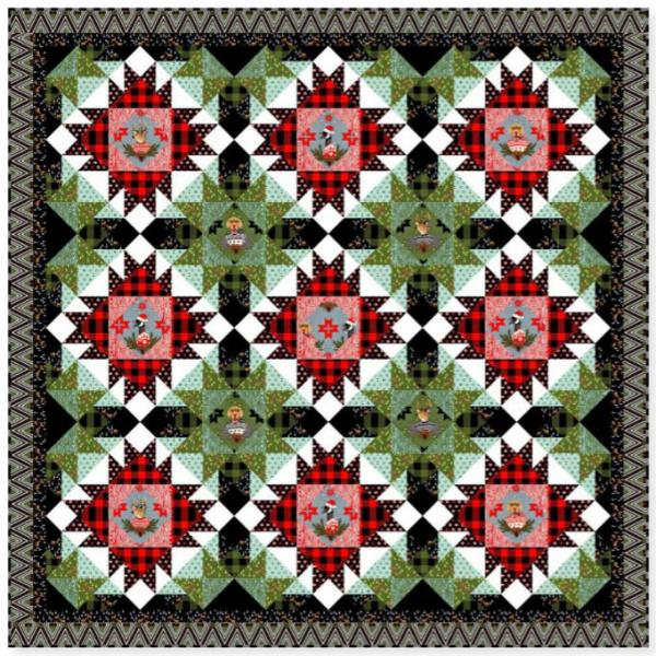Holiday Homies Merry and Bright Quilt Kit