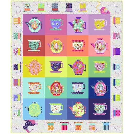 Tula Pink Curiouser and Curiouser Mad Hatters Tea Party Quilt Kit